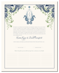 Marriage Certificate for Wedding by the Ocean