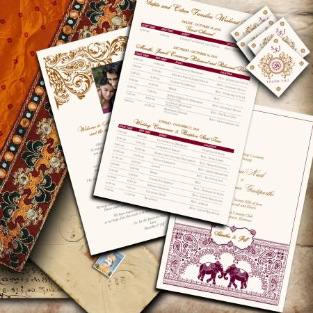 Wedding Program for Hindu Wedding Ceremony