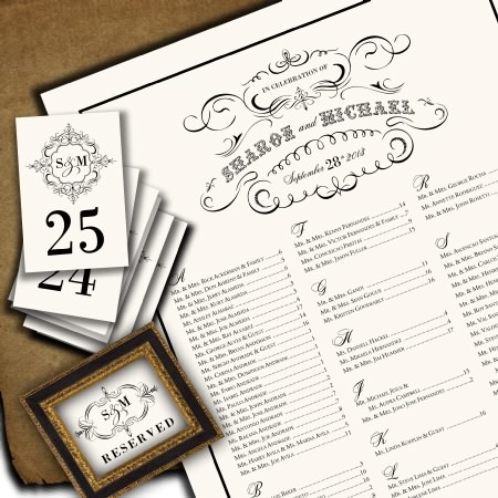 Wedding Seating Chart Examples