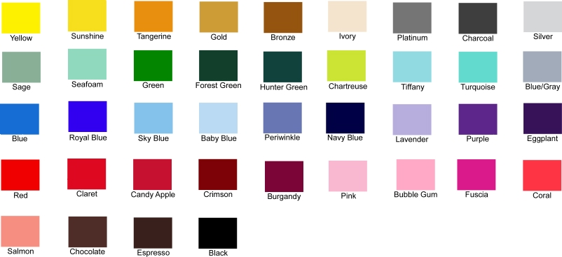 Jerome Soliz A Pantone Color Chart