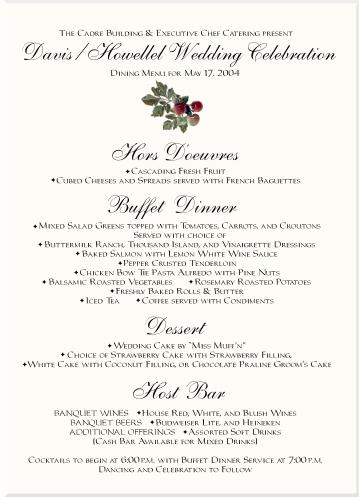 Vineyard Wedding Menu Cards-Vineyard Wedding Ideas-Grapes ...