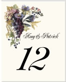 Wedding Table Number with Grapes