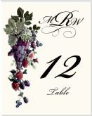 Table Number Idea for Vineyard Wedding