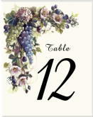 Wne Theme Wedding Table Number