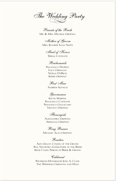 Red Rose Cascade Wedding Program Examples-Catholic Wedding Program ...