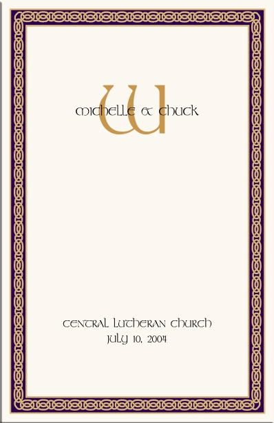 celtic wedding program example