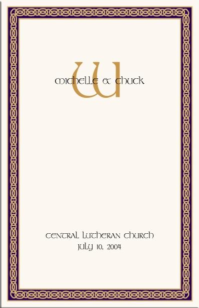 Celtic Wedding Program Example Directories Order Of
