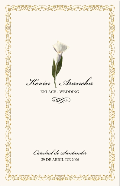 Spanish Wedding Program Examples Catholic Directories Order Of Service Church Espanol
