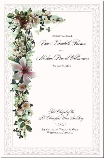 celtic wedding programs