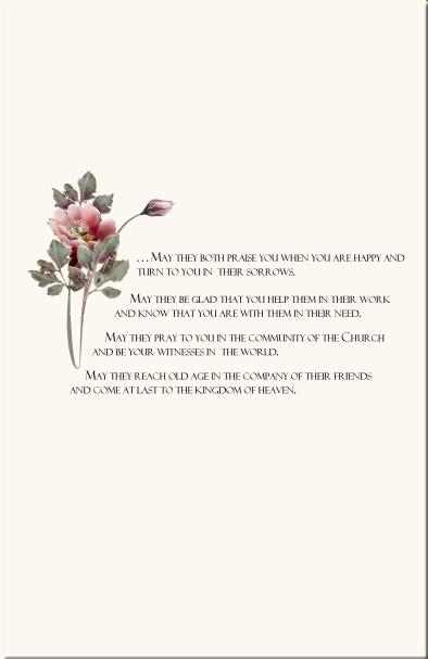 rose wedding program examples