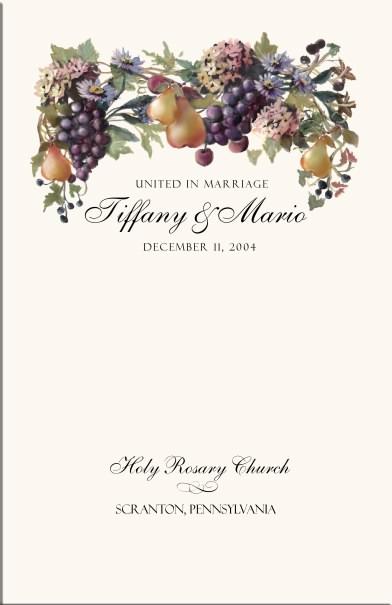 vineyard themed wedding program examples wedding program wording