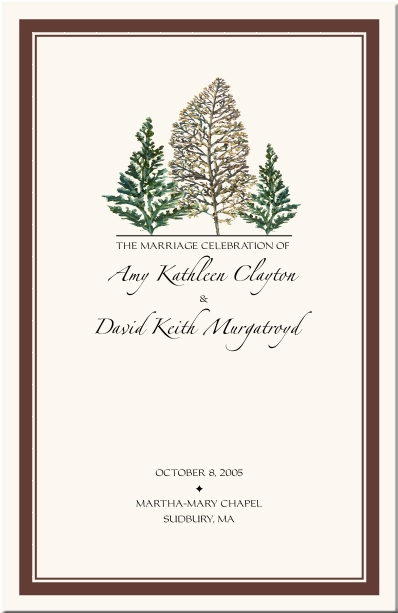 winter theme wedding program snowflake church directory christmas