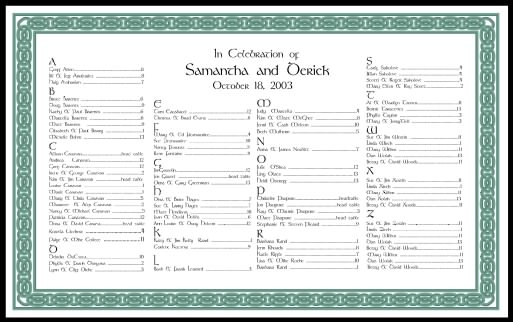 Wedding Seating Charts Calligraphy Wedding Reception Decorations