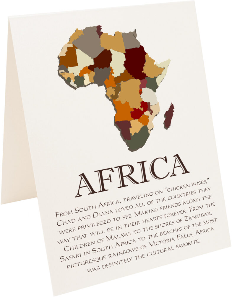 Photograph of Tented Map of Africa 2 Memorabilia Cards