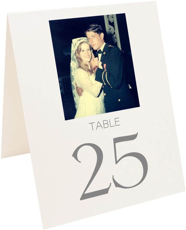 Photograph of Tented Memory Lane Table Numbers