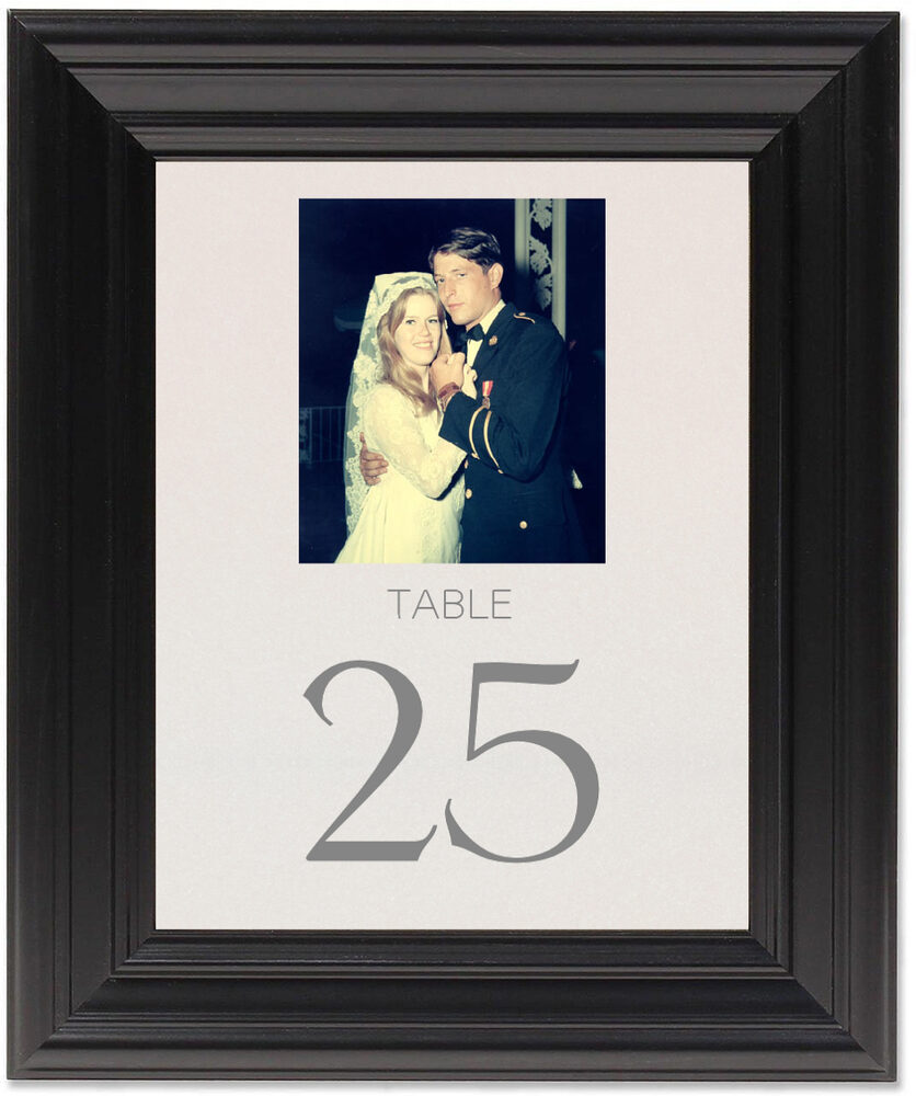 Framed Photograph of Memory Lane Table Numbers