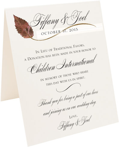 Photograph of Tented Ironwood Wispy Leaf Donation Cards