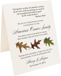 Photograph of Tented Leaf Pattern Assortment Donation Cards