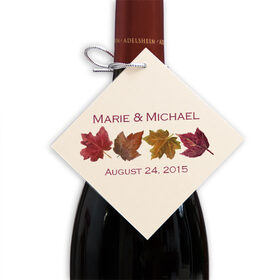 Photograph of Maple Leaf Pattern Favor Tags