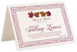 Photograph of Tented Maple Leaf Pattern Memorabilia Cards