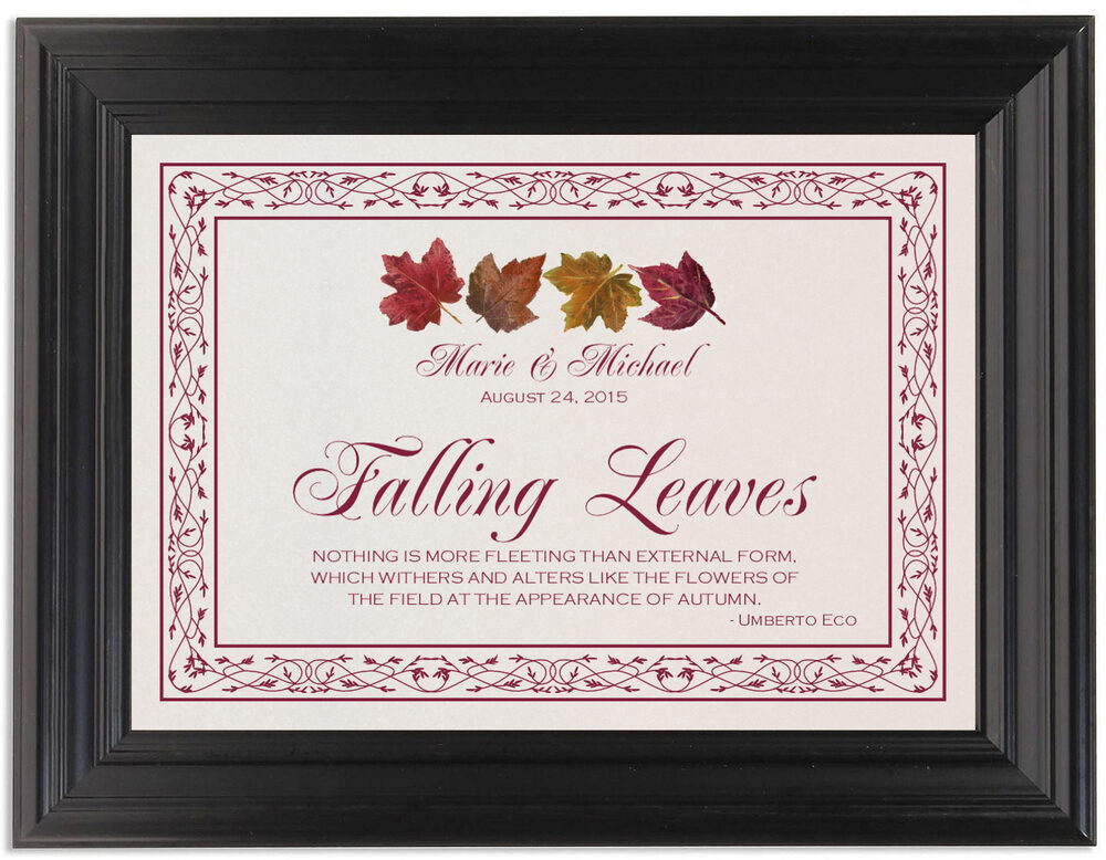 Framed Photograph of Maple Leaf Pattern Memorabilia Cards