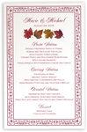 Photograph of Maple Leaf Pattern Wedding Menus
