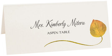 Photograph of Tented Aspen Wispy Leaf Place Cards