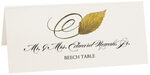 Photograph of Tented Beech Swirly Leaf Place Cards