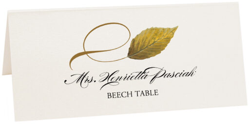 Photograph of Tented Beech Twisty Leaf Place Cards
