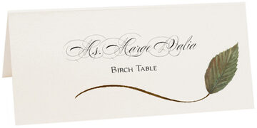 Photograph of Tented Birch Wispy Leaf Place Cards