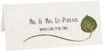 Photograph of Tented Bradford Pear Wispy Leaf Place Cards