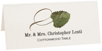 Photograph of Tented Cottonwood Twisty Leaf Place Cards