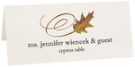 Photograph of Tented Cypress Swirly Leaf Place Cards