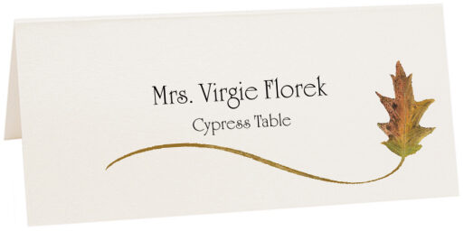 Photograph of Tented Cypress Wispy Leaf Place Cards