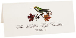 Photograph of Tented Fall Indy Place Cards