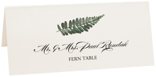 Photograph of Tented Fern Colorful Leaf Place Cards