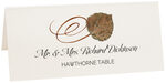 Photograph of Tented Hawthorne Swirly Leaf Place Cards