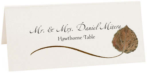 Photograph of Tented Hawthorne Wispy Leaf Place Cards
