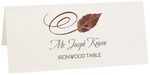 Photograph of Tented Ironwood Swirly Leaf Place Cards