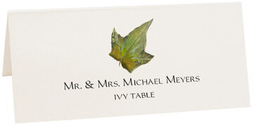 Photograph of Tented Ivy Colorful Leaf Place Cards