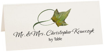 Photograph of Tented Ivy Twisty Leaf Place Cards