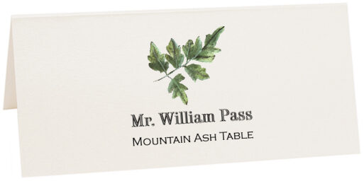 Photograph of Tented Mountain Ash Colorful Leaf Place Cards