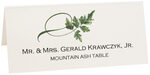 Photograph of Tented Mountain Ash Twisty Leaf Place Cards