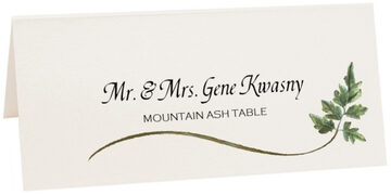 Photograph of Tented Mountain Ash Wispy Leaf Place Cards
