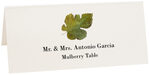 Photograph of Tented Mulberry Colorful Leaf Place Cards