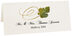 Photograph of Tented Mulberry Swirly Leaf Place Cards