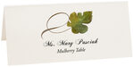 Photograph of Tented Mulberry Twisty Leaf Place Cards