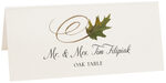 Photograph of Tented Oak Swirly Leaf Place Cards