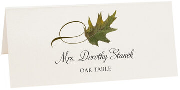 Photograph of Tented Oak Twisty Leaf Place Cards