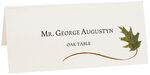 Photograph of Tented Oak Wispy Leaf Place Cards